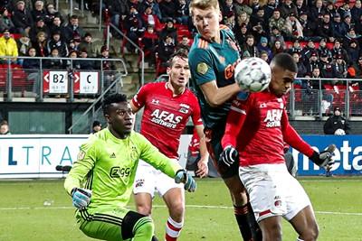 ALKMAAR , 15-12-2019 , AFAS Stadion , Dutch football , Eredivisie , season 2019 / 2020. Ajax goalkeeper Andre Onana at the 1-0 during the match AZ vs Ajax