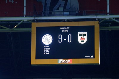 Het scorebord blijft steken op 9-0. Toch een beetje jammer. © De Brouwer