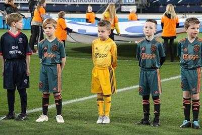 Dit keepertje heeft thuis geoefend, dat zie je zo! © Ajax Kids Club