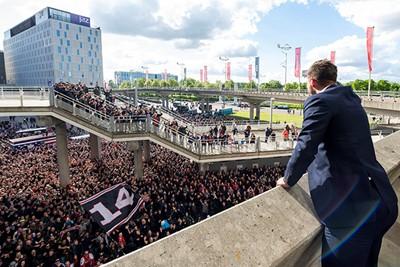 Officieus kampioen na de zege op FC Utrecht. Vast een feestje! © Ajax Images