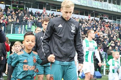 Deze foto is niet scherp, maar dat bleek Ajax ook niet... © Ajax Kids Club