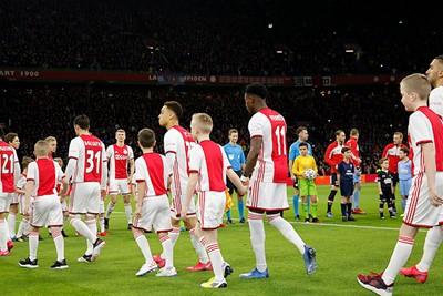 Pfoe, dan sta je ineens op het heilige gras van de Johan Cruijff Arena! © De Brouwer