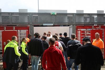 Gelatenheid troef. De supporters hadden honger, de spelers wat minder. © De Brouwer