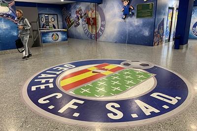 Het clublogo van Getafe pakken we nog effe mee. © Ajax Life