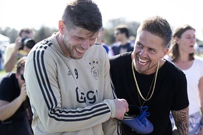 ORLANDO, 08-01-2019 , Klaas Jan Huntelaar and Andre Hazes Jr during the Training Camp of Ajax at the Omni Orlando Resort.