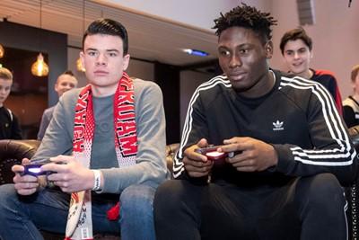 AMSTERDAM , 10-02-2019 , Johan Cruijf Arena, Ajax Jonge Schare Fifa tournooi