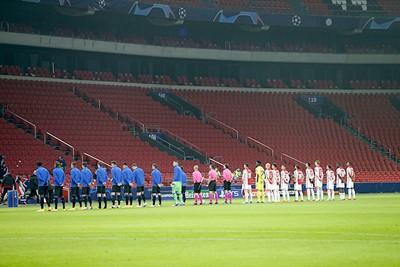 Hopelijk was dit het derde en laatste CL-avondje zonder supporters... © De Brouwer