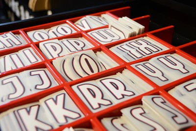 Alle lettertjes en keurig op volgorde. Handig voor het overzicht, en zo. © Ajax Life