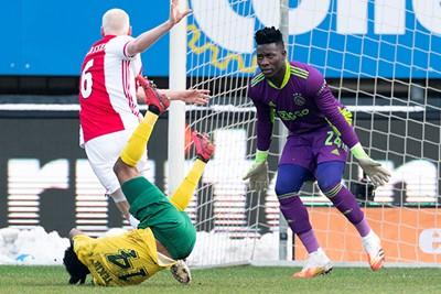 Fortuna is enthousiast, voetbalt lekker mee en Ajax maakt het zichzelf lastig. © Pro Shots