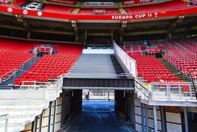 En zo ziet het eruit zonder stoeltjes. © Johan Cruijff Arena