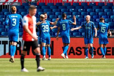 Blije Ajacieden en balende Feyenoorders. Zo zien we het graag! © Pro Shots