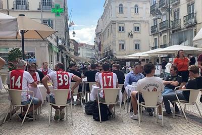 Er was af en toe wat regen, maar het leven was vooral goed in Lissabon © Ajax Life