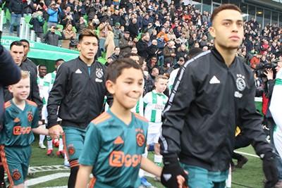 Ook hier ontbreekt de scherpte een beetje... © Ajax Kids Club