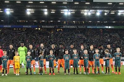 Ha, kijk, daar zijn de spelers! Mooi plaatje. © Ajax Kids Club