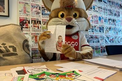 Wat een lieve post kregen we binnen zeg! © Ajax Kids Club