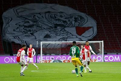 Blijft mooi hè, die ouwe achter de goal. © De Brouwer