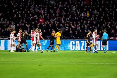 AMSTERDAM, 10-12-2019 , JohanCruyff Arena, season 2019 / 2020 of the UEFA Champions League between Ajax and FC Valencia. Ajax keeper Andre Onana