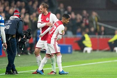 AMSTERDAM, 22-01-2020 JohanCruyff Arena , KNVB Beker,  Football season 2019 / 2020 .  Ajax player Naci Unuvar  makes  his debuut during the match Ajax - Spakenburg