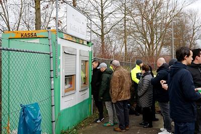 De ontvangst bij Groningen is altijd goed voor elkaar, hulde! © De Brouwer
