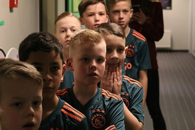 Ook hier is de spanning nog volop aanwezig. Geweldig! © Ajax Kids Club
