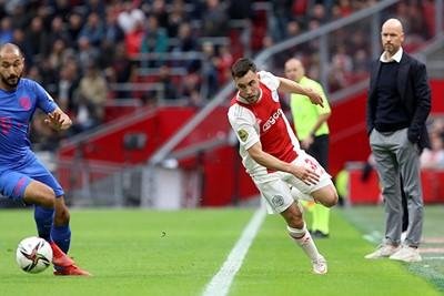 Tagliafico was niet blij met zijn reserverol en kreeg tegen Utrecht weer de kans. © De Brouwer