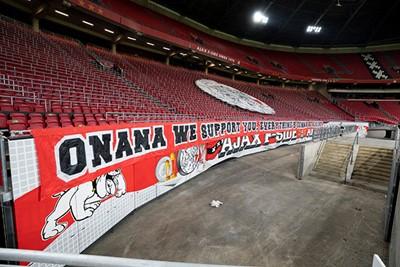 Desondanks laten de supporters van zich horen, voor Onana! © Pro Shots