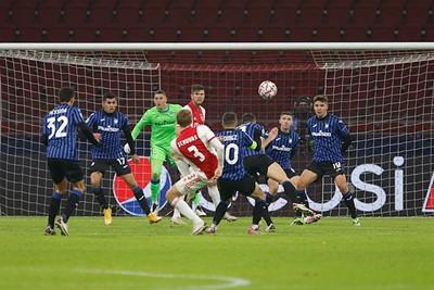 Dit zijn min of meer de doelpogingen van Ajax. Helaas, het is niet anders. © De Brouwer