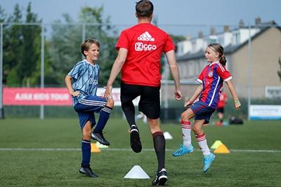 Hier zien we een wedstrijd tussen Ajax en Bayern München. © De Brouwer