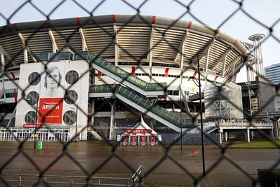 Bij de JC Arena is het rustig. Veel te rustig, maar we kennen de oorzaak. © De Brouwer