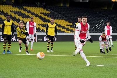 Young Boys geen pingel, Ajax wel en dan is het vaak raak. © Pro Shots