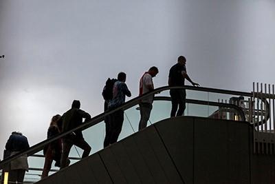 Snel naar binnen, want de regen kletterde op zeker moment aardig omlaag! © Björn Martens