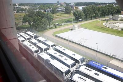Afgelopen, dus terug met slechts een puntje terug naar de bussen... © De Brouwer