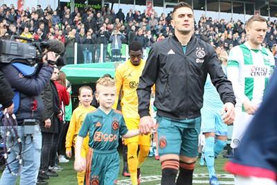 Twee stoere kerels! © Ajax Kids Club