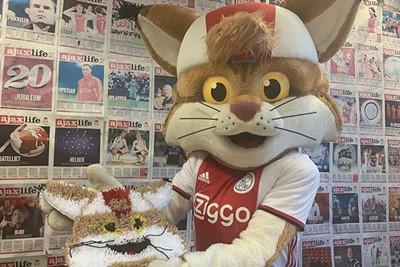 Ella van der Vaart stuurde deze superzachte Lucky. © Ajax Kids Club