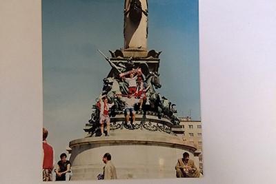 Eerst een standbeeld, daarna Europa. © Kees