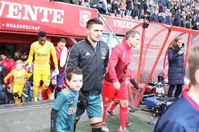 Kijk dat blije koppie! En dan bedoelen we niet direct Tadic! © Ajax Kids Club