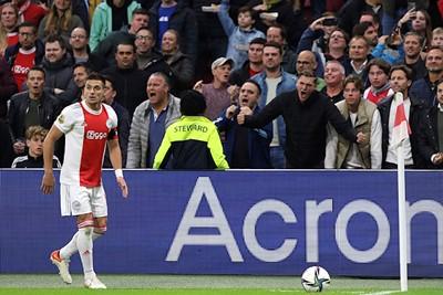 Stukje supportersbeleving in de richting van Tadic. © De Brouwer