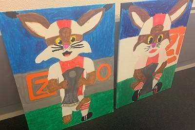 Toffe schilderwerken van Taeke en Barbara Kaptein. © Ajax Kids Club