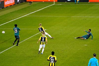 Gravenberch zorgt halverwege de tweede helft voor een veilige marge! © Pro Shots