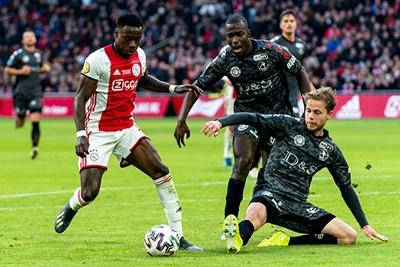 AMSTERDAM, 19-01-2020, football, Johan Cruijff ArenA, Dutch eredivisie, season 2019-2020, Ajax player Quincy Promes, during the match Ajax - Sparta,  Final score : 2-1