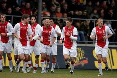 2007/08: Mooi, maar de onderkant van de rode baan loopt af. Gek! © AFC Ajax