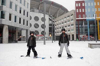 Op je snowboard, het kan vandaag allemaal! © De Brouwer
